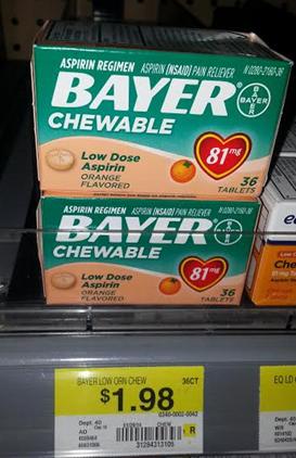 Bayer Chewable Aspirin