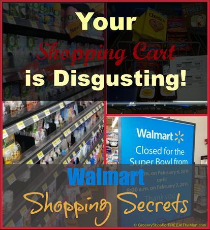 Walmart Shopping Secrets: Your Shopping Cart is Disgusting!