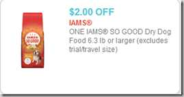 Iams So Good Dog Food coupon