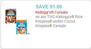Kelloggs Cereal Risce Krispies Coupon