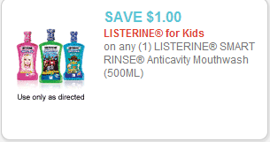 Listerine Smart Rinse Coupon