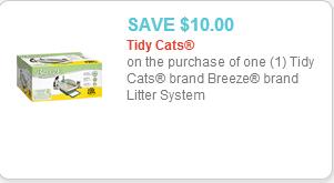 Tidy Cats Breeze Coupon