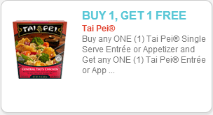 Tai-Pei Entrees Coupon