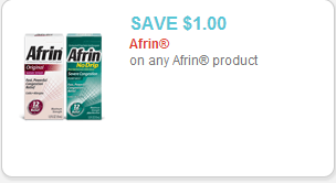 Afrin Nasal Spray Coupon