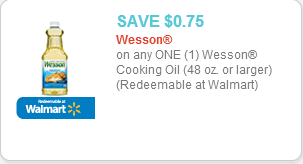 Wesson Oil Coupon