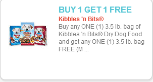 picture relating to Kibbles and Bits Printable Coupons known as BOGO Absolutely free Kibbles n Bits Doggy Meals at Walmart!