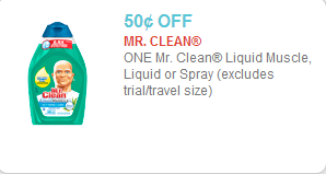 Mr Clean Coupon