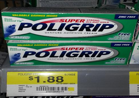 Super Poligrip at Walmart
