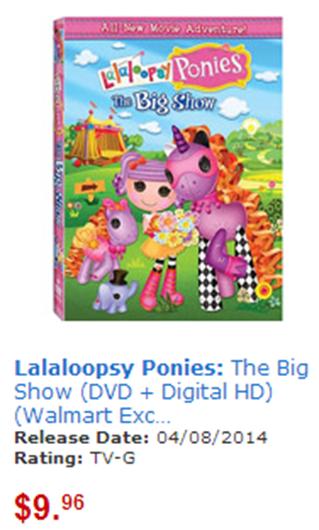 Lalaloopsy Ponies DVD