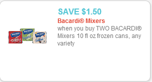 Bacardi Mixers coupon