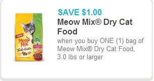 Meow Mix Dry Cat Food Coupon
