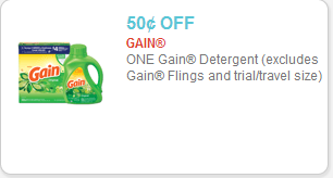 Gain Detergent Coupon