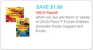 Old El Paso Frozen Entree Printable coupon