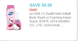 Dial Hello Kitty Bodywash coupon