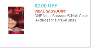 Vidal Sassoon Color Coupon