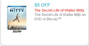 Secret Life of Walter Mitty Coupon