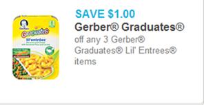 Gerber Graduates Lil Entrees Coupon