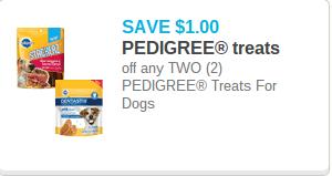 Pedigree Dog Treats Coupon