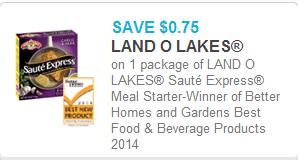 Land O Lakes Saute Express Coupon