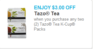 Tazo K-Cups Coupon