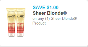 John Frieda Sheer Blonde Coupon