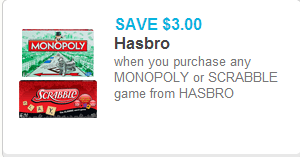 Monopoly or Scrabble Coupon
