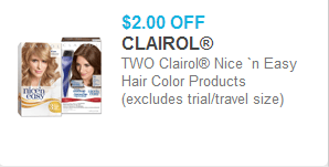 Clairol Nice 'n Easy Coupon