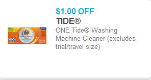 Tide Washing Machine Cleaner Coupon