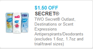 picture relating to Secret Deodorant Printable Coupons named Fresh Printable Discount coupons for Key Deodorant!