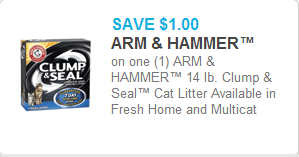 Arm and Hammer Clump & Seal Cat Litter