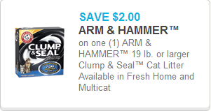Arm and Hammer Clump & Seal Cat Litter`