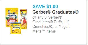 Gerber Graduates Puffs coupon