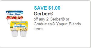 Gerber Yogurt Blends Coupon