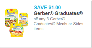 Gerber Graduates Meals Coupon