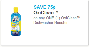 Oxi-Clean Diswashing Detergent Coupon