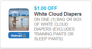 White Cloud Diapers Coupon