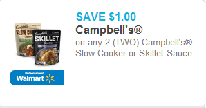 Campbell's Skillet Sauce or Slow Cooker Sauces Coupon