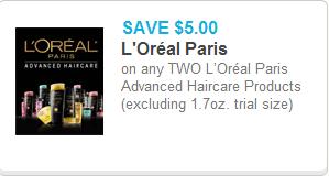 LOreal Paris Advanced Haircare Coupon