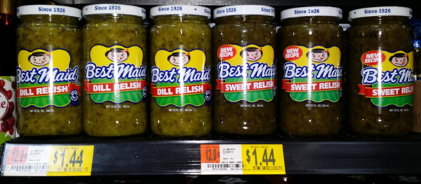 Best Maid Relishes Just $0.89