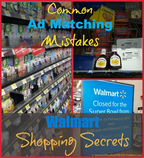 Common Ad Matching Mistakes Walmart Shopping Secrets