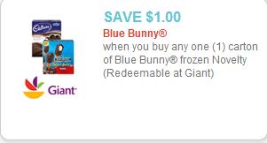 Blue Bunny Coupon
