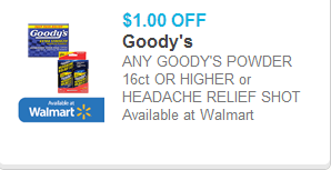 Goody's Headache Relief Shots Coupon