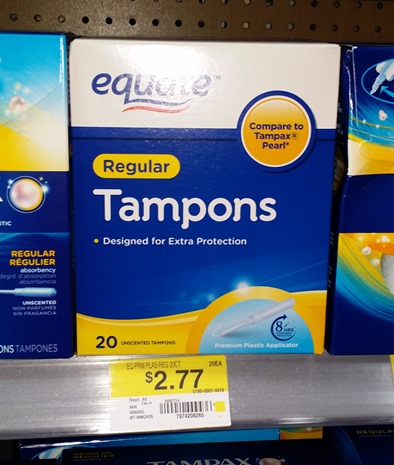 Equate Tampons