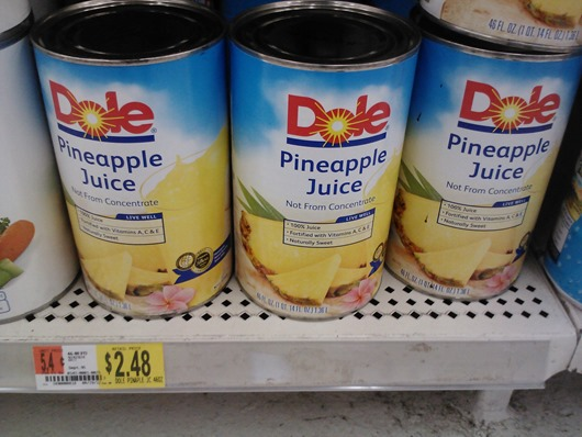Dole Pineapple Juice 7-12-12