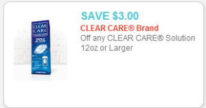 clear care contact solution coupon