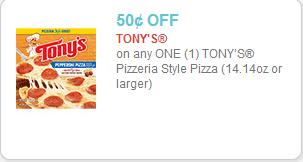 Tony's Pizza Coupon