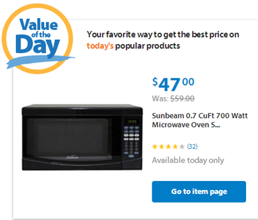 Walmart Value of the Day