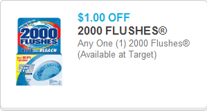 2000 Flushes Coupon