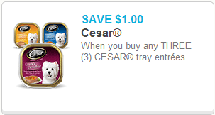Cesar dog food Coupon
