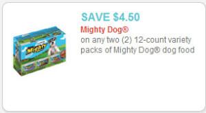 mighty dog dog food coupon